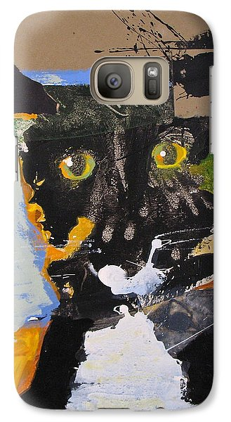 Galaxy Case featuring the painting Ralph Abstracted by Cliff Spohn