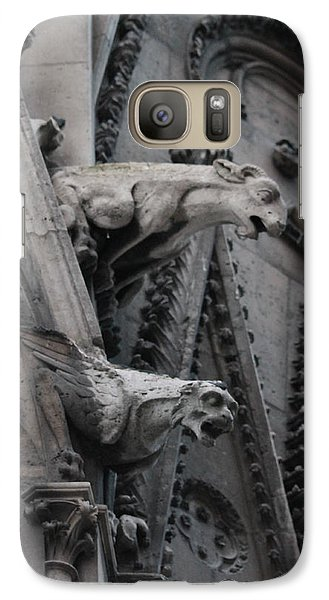 Galaxy Case featuring the photograph Ram And Eagle Griffon Notre Dame by Christopher Kirby