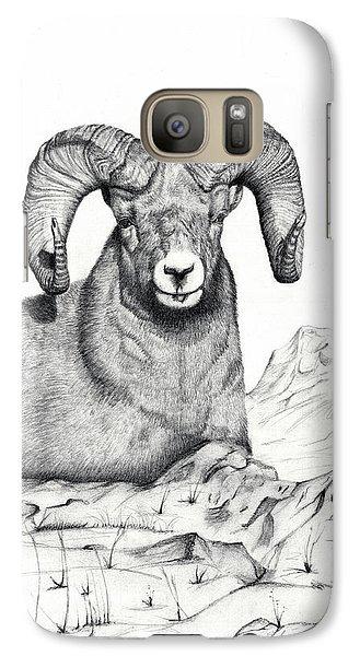 Galaxy Case featuring the drawing Ram by Mayhem Mediums