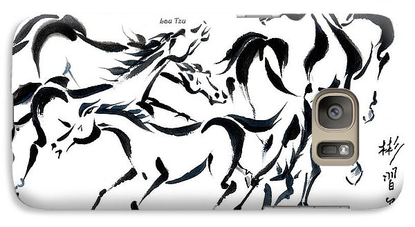Galaxy Case featuring the painting Rambunctious With Lao Tzu Quote I by Bill Searle