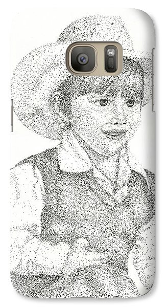 Galaxy Case featuring the drawing Ranch Hand by Mayhem Mediums