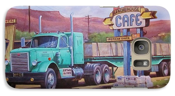 Galaxy Case featuring the painting Ranch House Truckstop. by Mike Jeffries
