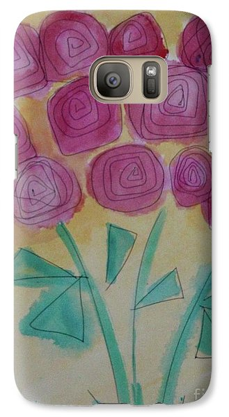 Galaxy Case featuring the painting Randi's Roses by Kim Nelson