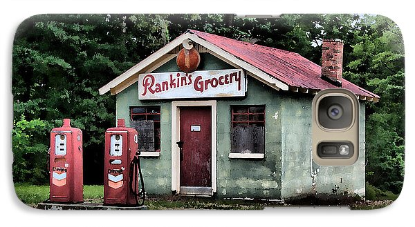Galaxy Case featuring the painting Rankins Grocery In Watercolor by Lynne Jenkins