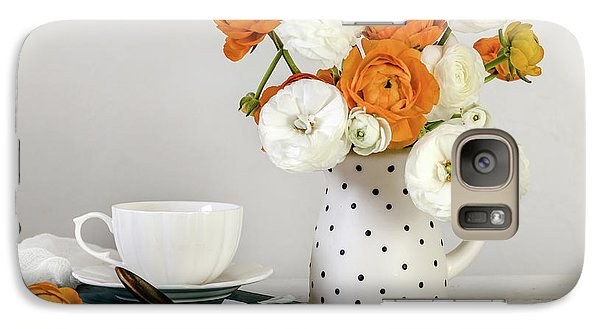 Galaxy Case featuring the photograph Ranunculus Bouquet by Kim Hojnacki