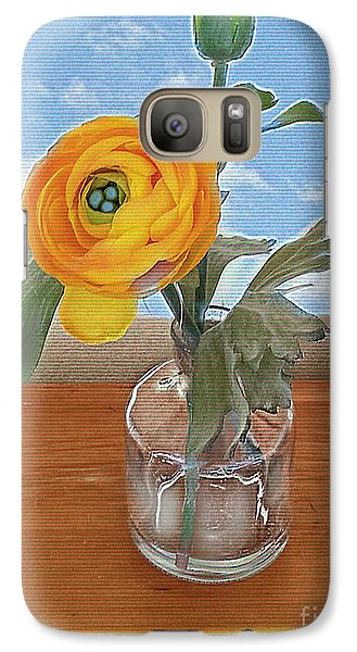 Galaxy Case featuring the digital art Ranunculus Spring by Alexis Rotella