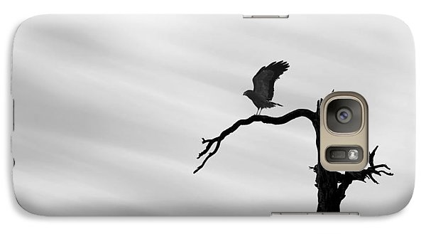Galaxy Case featuring the photograph Raptor Silhouette by Joe Bonita