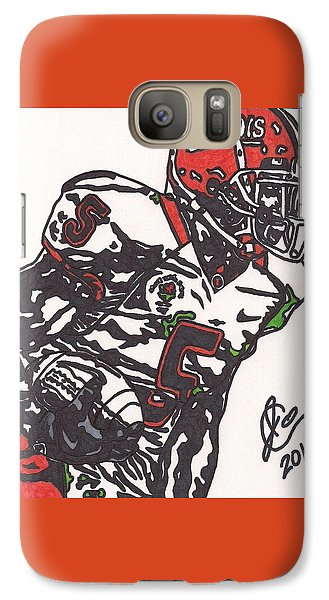 Galaxy Case featuring the drawing Rashard Mendenhall 1 by Jeremiah Colley