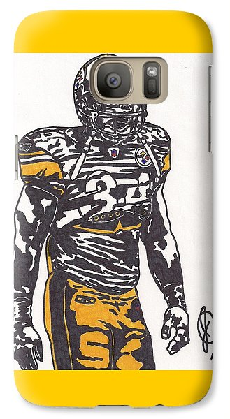 Galaxy Case featuring the drawing Rashard Mendenhall 2 by Jeremiah Colley