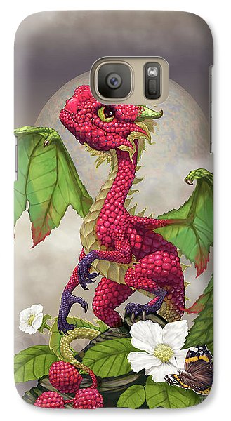 Galaxy Case featuring the digital art Raspberry Dragon by Stanley Morrison
