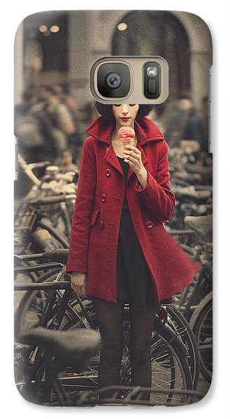 Bicycle Galaxy S7 Case - raspberry sorbet in Amsterdam by Anka Zhuravleva
