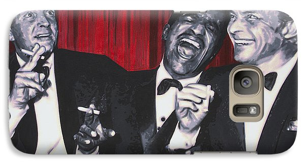 Galaxy Case featuring the painting Rat Pack by Luis Ludzska