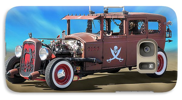 Galaxy Case featuring the photograph Rat Rod On Beach 3 by Mike McGlothlen