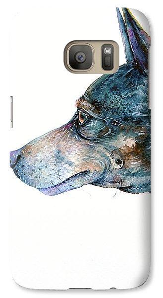 Galaxy Case featuring the painting Rat Terrier by Zaira Dzhaubaeva