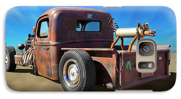 Galaxy Case featuring the photograph Rat Truck On Beach 2 by Mike McGlothlen