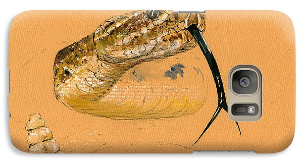 Rattlesnake Painting Galaxy S7 Case
