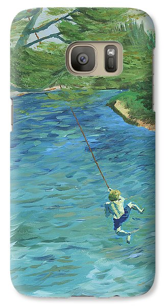Galaxy Case featuring the painting Raurri The Sandbanks And The Tree That Broke My Heart by Denny Morreale