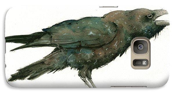 Raven Galaxy S7 Case - Raven Bird by Juan Bosco