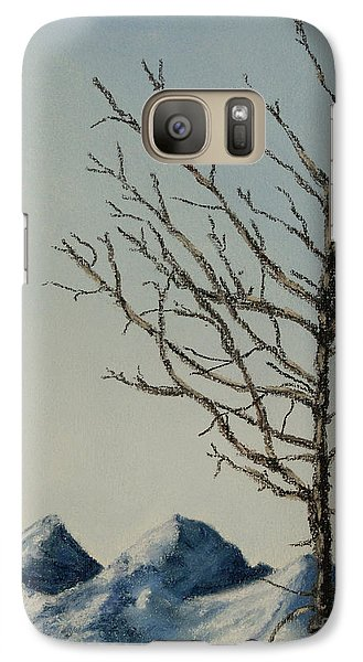 Galaxy Case featuring the painting Raven Brought Light by Stanza Widen
