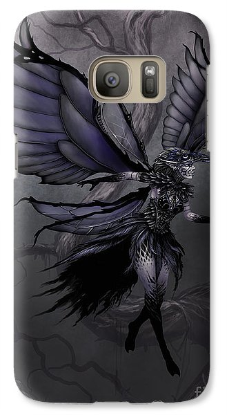 Galaxy Case featuring the digital art Raven Fairy by Stanley Morrison