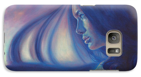 Galaxy Case featuring the painting Raven Sunrise by Ragen Mendenhall