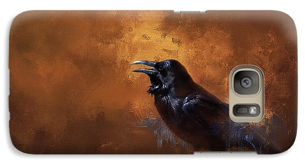 Galaxy Case featuring the painting Raven by Theresa Tahara
