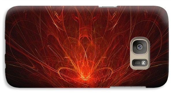 Galaxy Case featuring the digital art Ravenous by R Thomas Brass