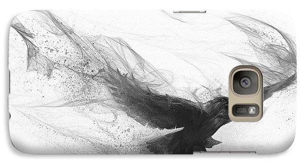 Galaxy Case featuring the digital art Raven's Flight by Steve Goad