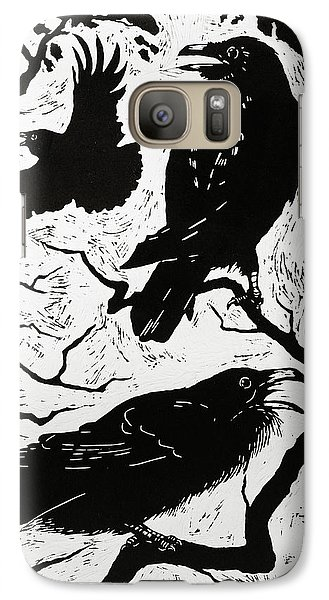 Ravens Galaxy S7 Case by Nat Morley