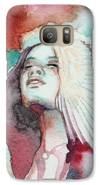 Galaxy Case featuring the painting Ravensara by Ragen Mendenhall