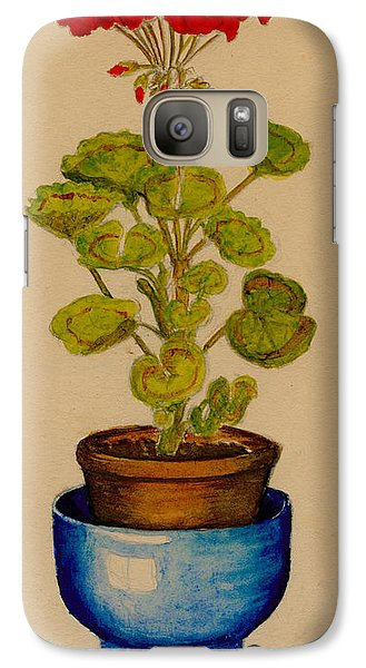 Galaxy Case featuring the painting Ray-bet Geranium by Betty Hammant