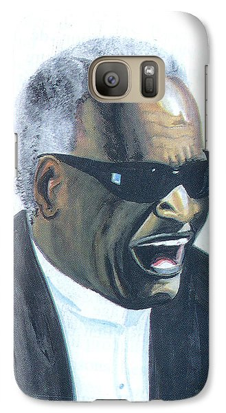 Galaxy Case featuring the painting Ray Charles by Emmanuel Baliyanga