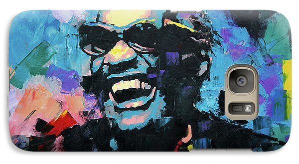Galaxy Case featuring the painting Ray Charles by Richard Day