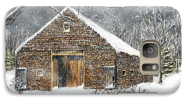 Galaxy Case featuring the painting Ray Emerson's Old Barn by Jack Skinner