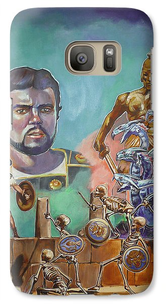 Galaxy Case featuring the painting Ray Harryhausen Tribute Jason And The Argonauts by Bryan Bustard