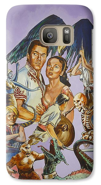 Galaxy Case featuring the painting Ray Harryhausen Tribute Seventh Voyage Of Sinbad by Bryan Bustard