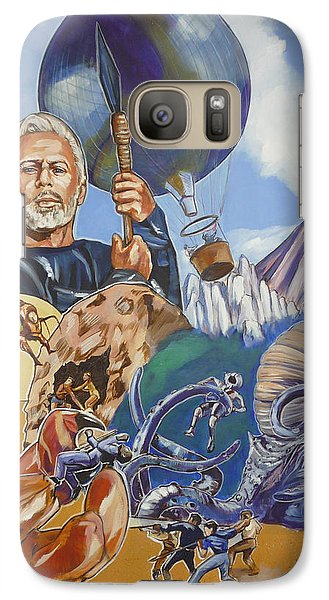 Galaxy Case featuring the painting Ray Harryhausen Tribute The Mysterious Island by Bryan Bustard