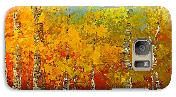 Galaxy Case featuring the painting Ray Of Gold by Tatiana Iliina