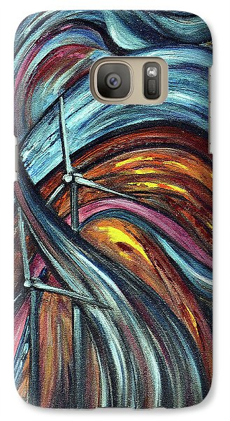 Galaxy Case featuring the painting Ray Of Hope 2 by Harsh Malik