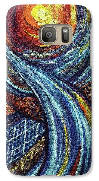 Galaxy Case featuring the painting Ray Of Hope 3 by Harsh Malik