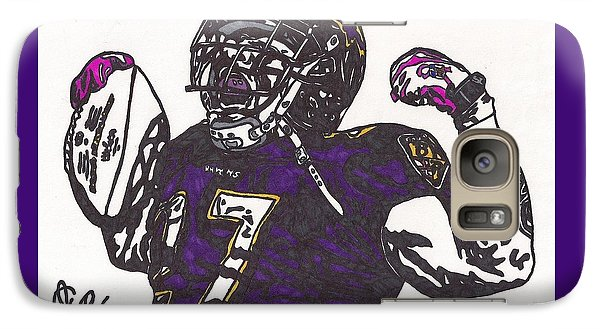 Galaxy Case featuring the drawing Ray Rice 1 by Jeremiah Colley