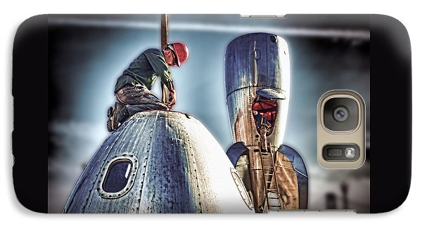 Galaxy Case featuring the photograph Raygun Gothic Rocketship Safe Landing by Steve Siri