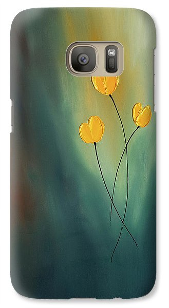 Galaxy Case featuring the painting Rays Of Hope by Carmen Guedez