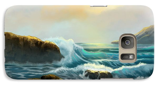 Galaxy Case featuring the painting Rays Of Light by Sena Wilson