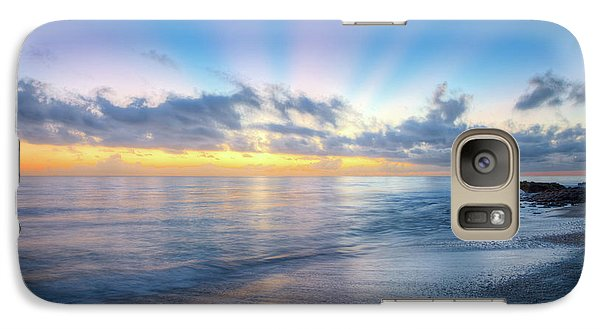 Galaxy Case featuring the photograph Rays Over The Reef by Debra and Dave Vanderlaan
