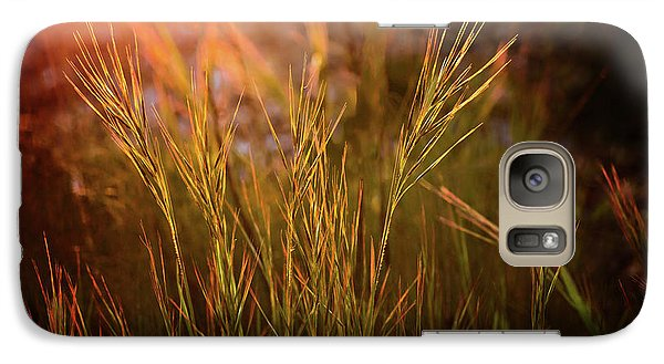Galaxy Case featuring the photograph Reaching For The Sunset Dark by Mary Jo Allen