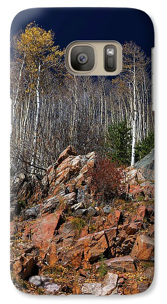 Galaxy Case featuring the photograph Reaching Into Blue by Stephen Anderson
