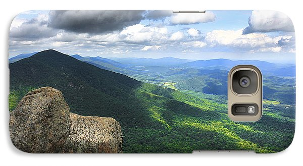 Galaxy Case featuring the photograph Reaching The Summit by Everett Houser