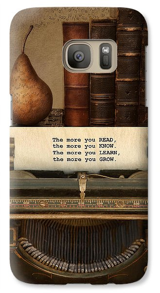 Galaxy Case featuring the photograph Read Learn Grow by Robin-Lee Vieira