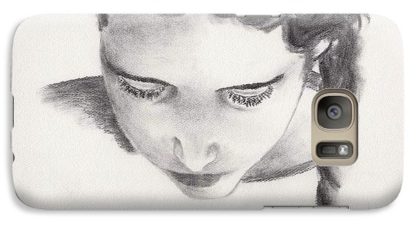 Galaxy Case featuring the drawing Reading by Annemeet Hasidi- van der Leij